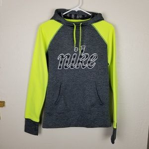 Nike| Therma-fit hoodie grey and neon green